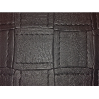 Block stich kunstleder kleur black