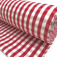 Outdoorstof boeren bont 160 cm breed rood wit ruit