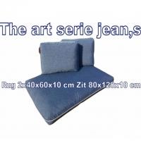Pallet kussens The Art Serie Jean,s  1x zit 2x rug