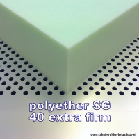 Schuimrubber polyether SG 40 Extra Firm 160 x 200 x 14 cm