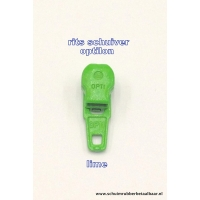 Rits schuiver optilon lime