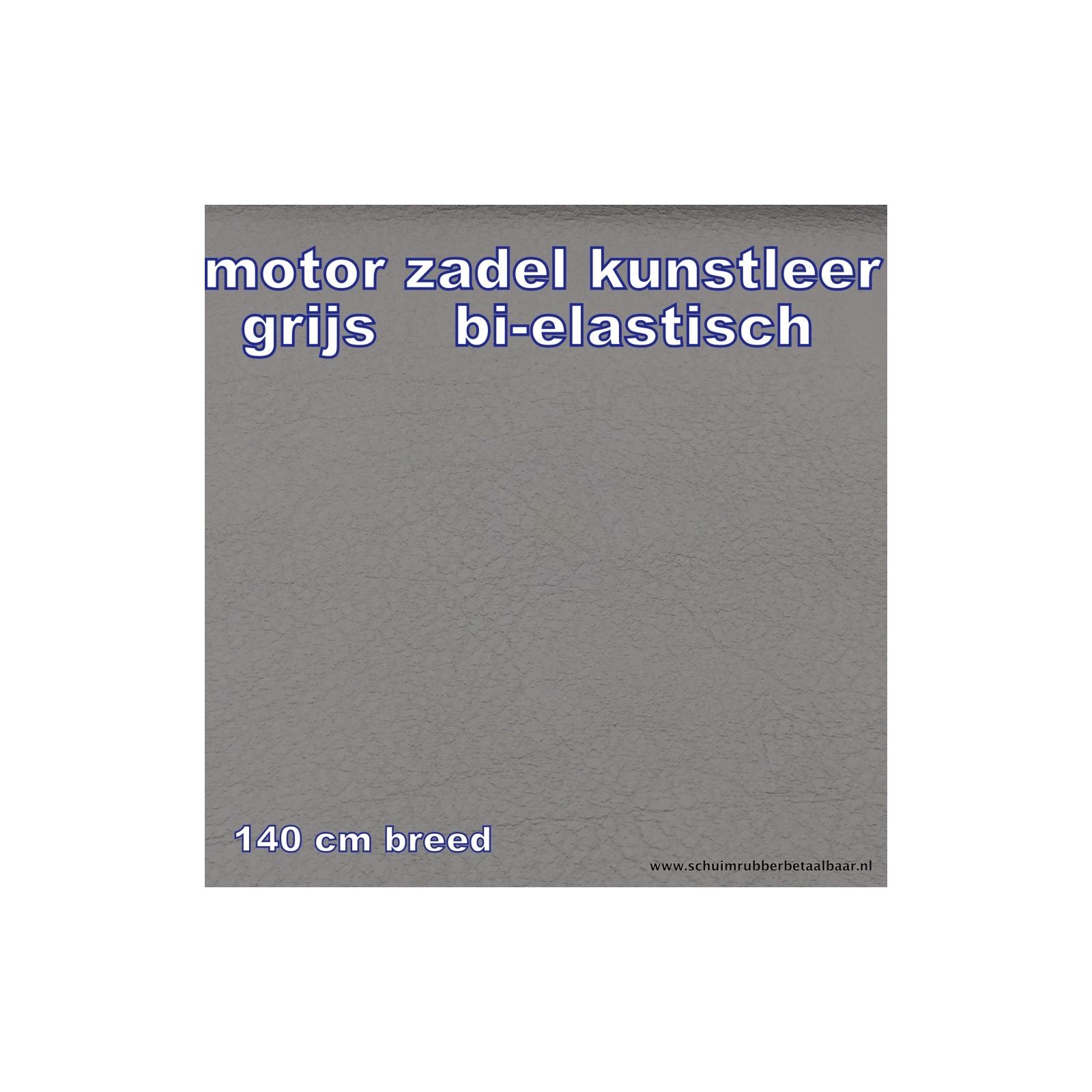 Kunstleer Motor Zadels Grijs 140 Cm Breed - Schuimrubber op maat ...