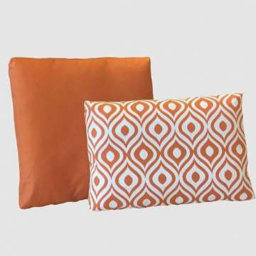 Outdoor kussen set Joan Art Orange in diverse maten.