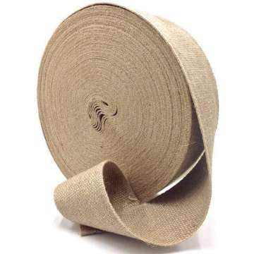 Jute singelband 85 mm breed rol 50 meter