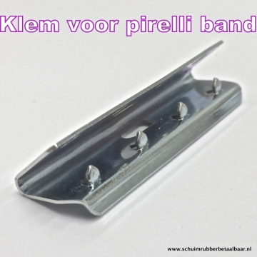 rubber singel band Pirelli 57 mm zwart