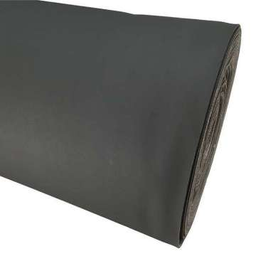 Kunstleer heavy duty graffiet met foam 144 cm breed