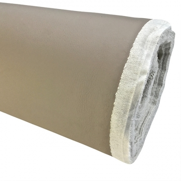 Kunstleer super soft licht taupe 140 cm breed