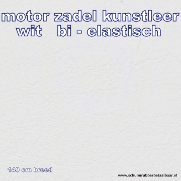 Kunstleer  motor zadels wit 140 cm breed