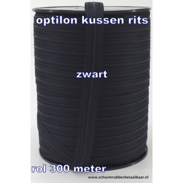 4 mm rits optilon zwart