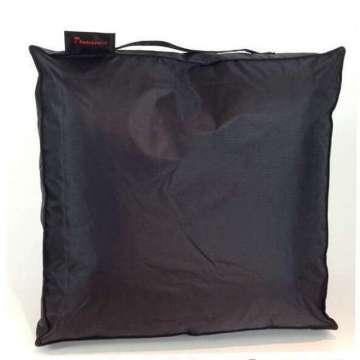 Outdoor kussen  50x50x10 cm zwart pvc