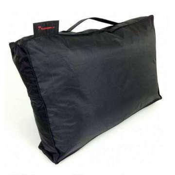 Outdoor kussen pvc zwart 60x40x10 cm