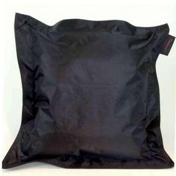 Outdoor kussen pvc zwart 50x50 cm met rand