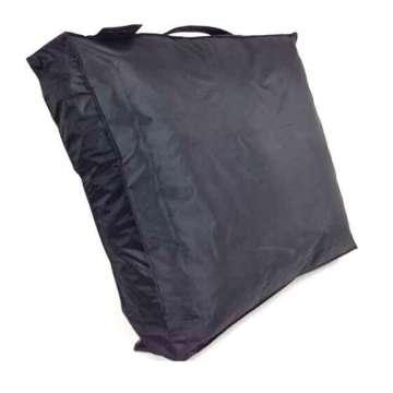 Outdoor zit kussen  60x60x10 cm zwart pvc