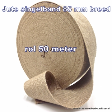 jute singelband 85 mm breed per rol 50 meter