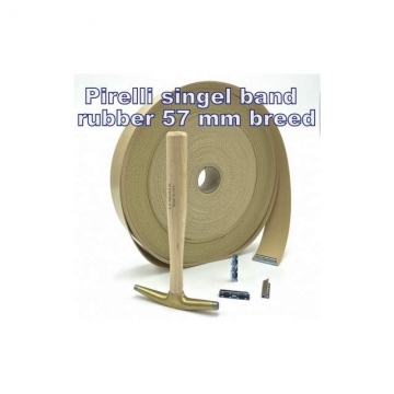 Rubber singel band Pirelli 57 mm beige