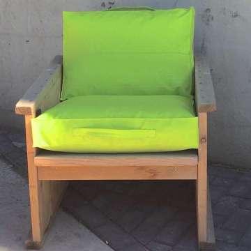 Outdoor kussen 40x60x10 cm lime