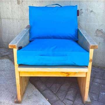 Outdoor kussen 60x60x10 cm Aqua