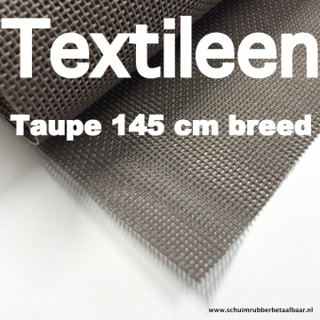 Textileen taupe 145 cm breed