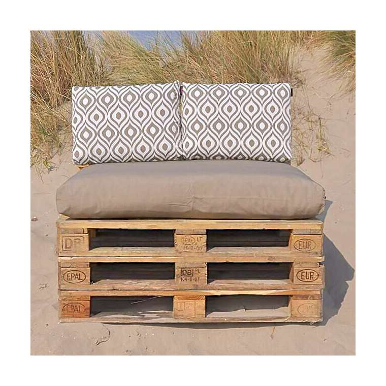 Pallet kussens Taupe Art serie