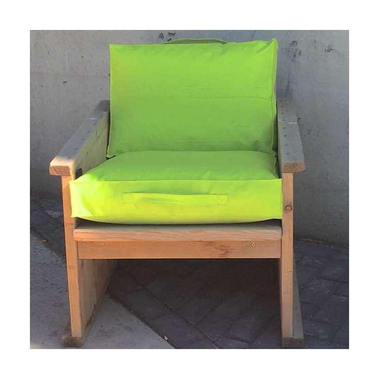 Outdoor kussen 60x60x10 cm lime