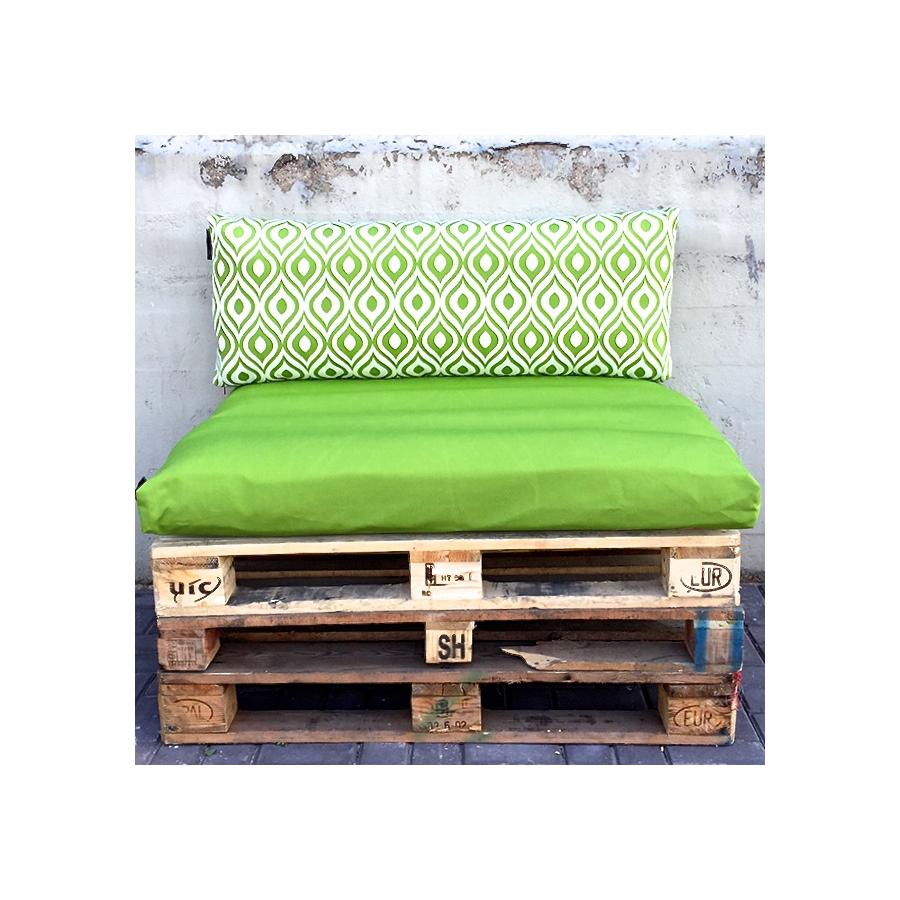 Pallet kussens set moss green art serie 1 x zit 1 x rug kussen