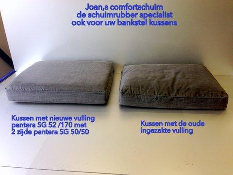 Bankstel kussens meten tip schuimrubber op maat comfort schuim